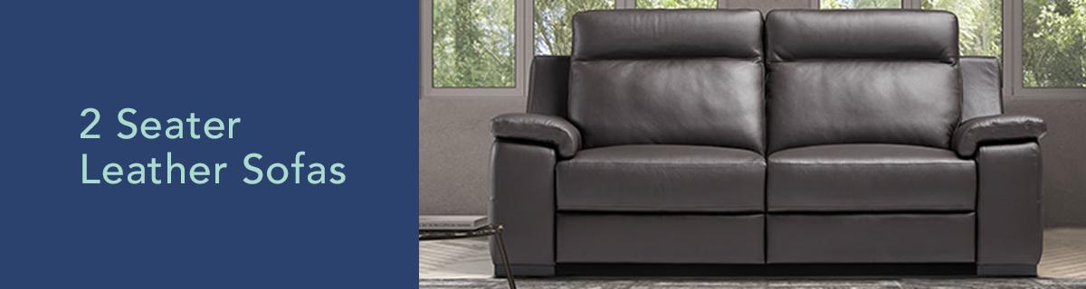 Kh dept banner 2 seater leather sofas