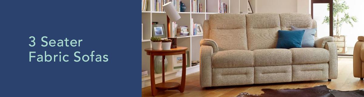Kh dept banner 3 seater fabric sofas