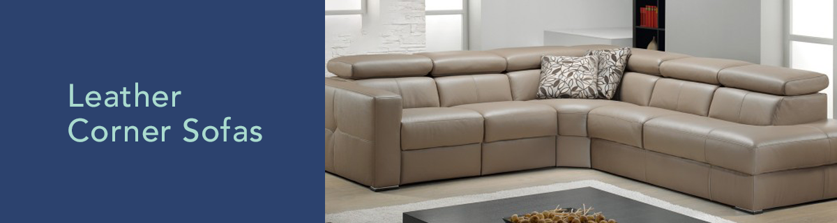 Kh dept banner leather corner sofas